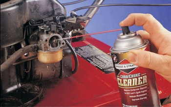 How to clean a lawn mower carburetor without removing it